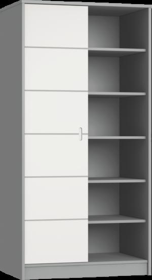 ALDA-szurke 2 osztású szekrény