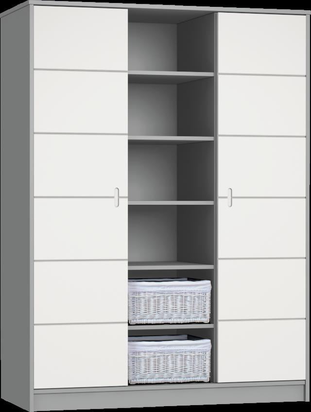 ALDA-szurke 3 osztású szekrény