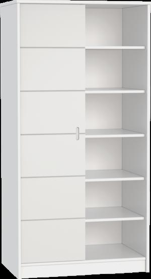 ALDA-feher-2 osztású szekrény