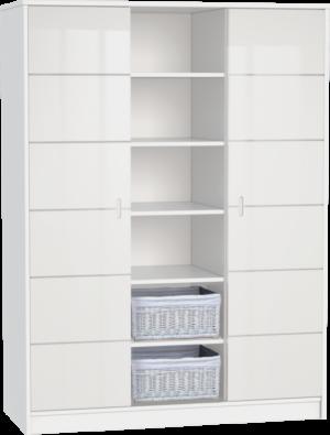 ALDA-feher-3 osztású szekrény