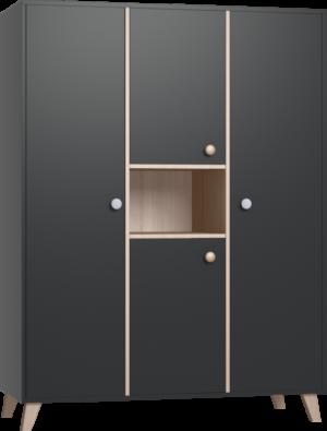 COLETTE antracit 3 osztású szekrény