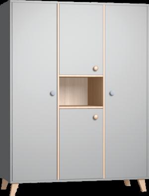 COLETTE szürke 3 osztású szekrény
