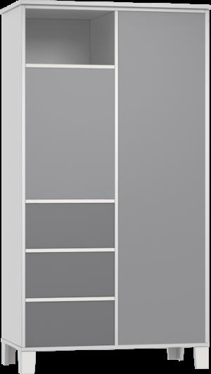 HOLLY grey Nagyszekrény