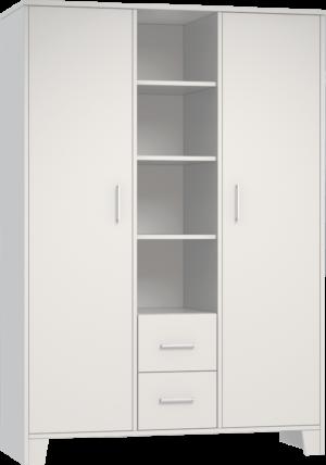 NEMO-FEHER-3 osztású szekrény